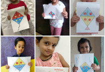Kite Coloring Activity By Nursery